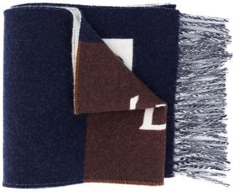 Loewe Logo Print Stripe Scarf