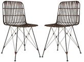 Safavieh Minerva Wicker Dining Chairs (Set of 2)