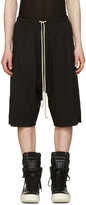 Rick Owens Black Basket Swinger Shorts