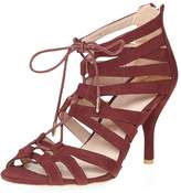 Dorothy Perkins Wide Fit 'Winns' Wine Sandals