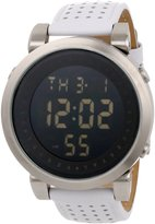 Vestal Men's DDL004 Digital Doppler White Leather Watch
