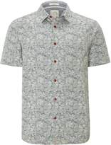 White Stuff Men's Lotus Jacquard Short Sleeve Shirt