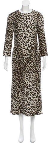 Rag & Bone Silk Leopard Print Dress