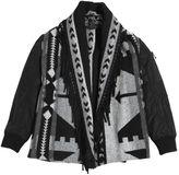 Miss Grant Nylon & Woven Wool Jacket