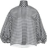 Dice Kayek Mock Neck Check Shirt
