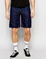 Diesel Denim Shorts Bustshort Straight Fit In Dark Rinse
