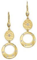 Meira T 14K Yellow Gold Open Circle Dangle Earrings with Diamonds
