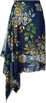 MSGM floral print asymmetric skirt