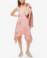 Free People Faded Bloom Asymmetrical Slip Dress