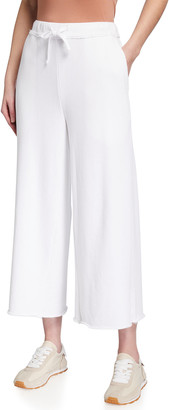 Eileen Fisher Organic Cotton French Terry Wide-Leg Pants