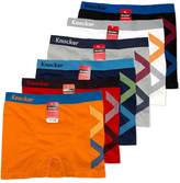 Knocker 6 pk Men`s Seamless Athletic Compression Boxer Briefs Underwear