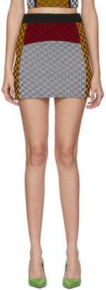 Paolina Russo SSENSE Exclusive Yellow and White Illusion Knit Miniskirt
