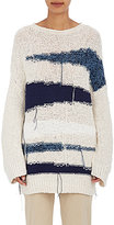 TOMORROWLAND Women's Striped Cotton Oversized Sweater