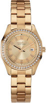 JCPenney CARAVELLE, NEW YORK Caravelle New York Womens Crystal-Accent Rose-Tone Stainless Steel Watch 44M103