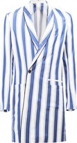 Haider Ackermann striped double-breasted coat - men - Silk/Cotton/Acetate/Viscose - 46