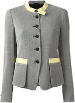 Emporio Armani collarless fitted jacket