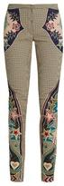 Mary Katrantzou Labyrinth cowboy-appliqué skinny-leg trousers