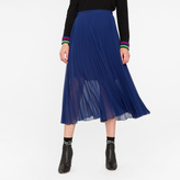Paul Smith Women's Indigo Pleated Midi Skirt