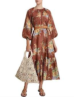Zimmermann Zinnia Long Sleeve Maxi Dress