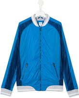 Boss Kids - mesh panel bomber jacket - kids - Cotton/Polyamide/Polyester - 16 yrs