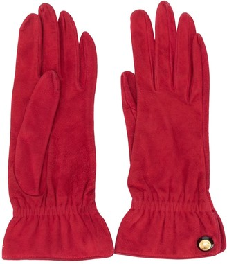 Chanel Pre Owned CC button gloves