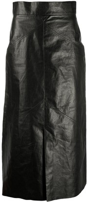 Isabel Marant Faux-Leather Mid-Length Pencil Skirt