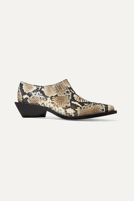 REJINA PYO Dolores Snake-effect Leather Ankle Boots - Snake print