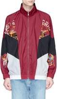 doublet Graphic embroidered colourblock track jacket