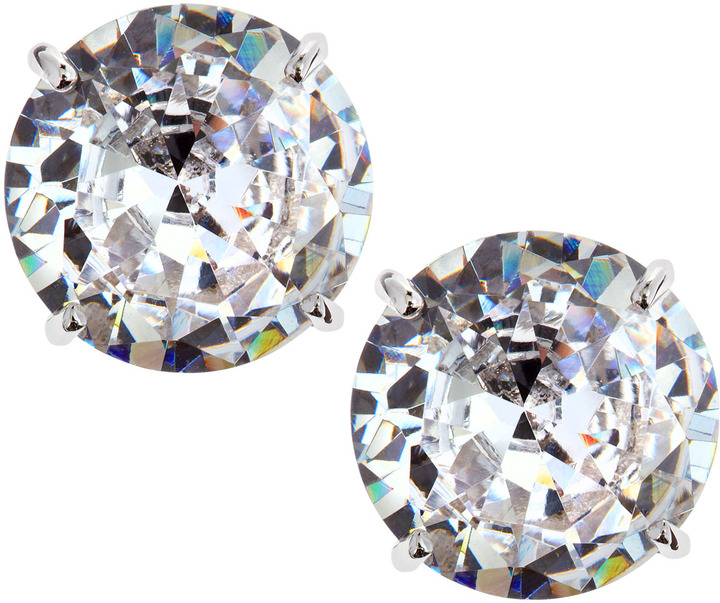 Kenneth Jay Lane CZ by Round Cubic Zirconia Stud Earrings