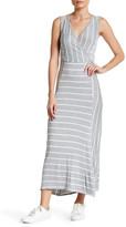 Loveappella Striped Surplice Neck Maxi Dress (Petite)