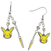 Pokemon Women's Pikachu Lightning Bolt Stainless Steel Dangle Earrings