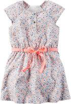 Carter's Cap-Sleeve Multicolored Woven Dress - Girls 4-8
