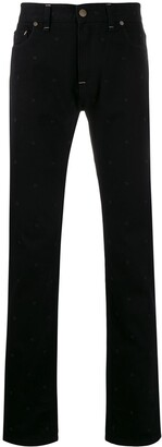 Fendi Slim-Fit Embroidered Monogram Jeans