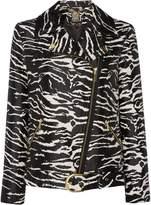 Biba Zebra jacquard biker jacket