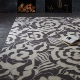Graphic Floral Wool Rug