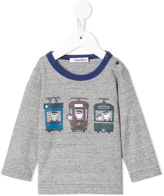Familiar animal train print T-shirt