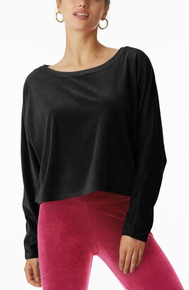 Juicy Couture Stretch Velvet Dolman Sleeve Top