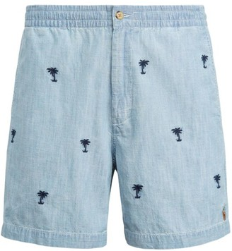 Polo Ralph Lauren Classic Fit Polo Prepster Embroidered Chambray Shorts