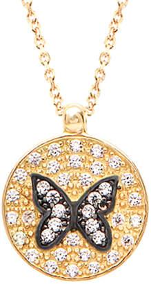 GABIRIELLE JEWELRY 22K Over Silver Cz Butterfly Necklace