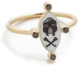 Holly Dyment Little Skull White Enamel Ring