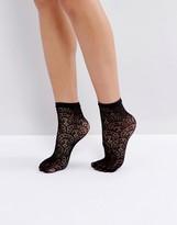 Jonathan Aston Treasure Black Ankle Socks