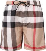 Burberry housecheck print swim shorts - men - Polyester - XL
