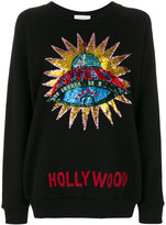 Gucci sequin-embellished Hollywood sweatshirt - women - Cotton - XS
