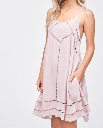 Express Emory Park Sleeveless Eyelet Mini Dress