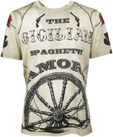 Dolce & Gabbana Off White Western Printed T-shirt From
