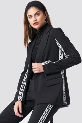 NA-KD N Branded Blazer Black