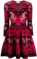 Alexander McQueen rose motif short dress