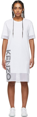Kenzo White Sport Logo T-Shirt Dress