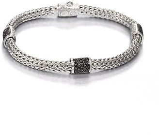 John Hardy Classic Chain Sterling Silver & Gemstone Four-Station Pusher-Clasp Extra-SmallBracelet