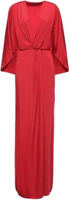 Alberta Ferretti Twist-front Cady Gown